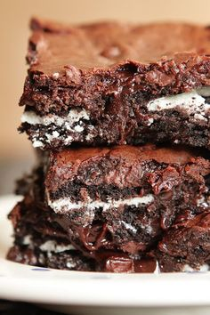 oreo brownies.. uhhh could anything be better than this??