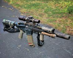 Airsoft Guns, Weapons Guns, Guns And Ammo, Ar Pistol Build, Ar15 Pistol, Gun Vault, Armas Ninja, Battle Rifle, Firearms