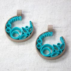 Quilled Earrings - Little Circles Paper Quilling