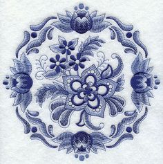 Hey, I found this really awesome Etsy listing at https://www.etsy.com/listing/168815008/delft-floral-medallion-2-machine