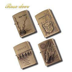 20pcs/lotStylish retro metal sculptures, kerosene lighters,  unique gasoline lighters, handicrafts, decorations, the best gifts