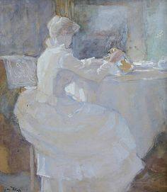 Annie Hall met melkkan Johannes Theodoor Jan Toorop 1885
