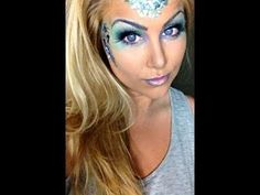 Time to dress up your Fin Fun Mermaid Tail with this awesome mermaid glam make-up! We love the colors!