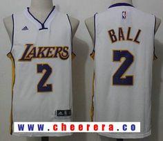Men s 2017 Draft Los Angeles Lakers  2 Lonzo Ball White Stitched NBA adidas Revolution  30 Swingman Jersey 617ea5a4e