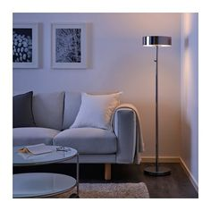IKEA STOCKHOLM 2017 floor lamp Integrated dimmer, to give general light or mood light. Ikea Stockholm 2017, White Floor Lamp, Ikea Floor Lamp, Tall Floor Lamps, Home Goods Store, Dimmable Light Bulbs, Living Room Flooring, Led Lampe, Affordable Furniture