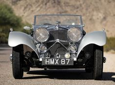 1938 Jaguar SS 100 3.5 Roadster. Must be what the '51MG was modelled after
