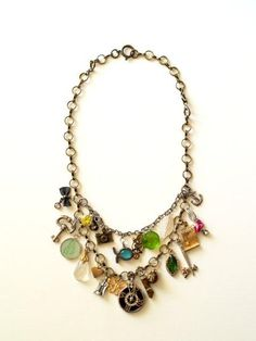 Anthro inspired charm necklace DIY. You can get creative with this one, I love it.