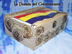 Caja pirograbada de las 13 rosas Pirograbado/ DIY