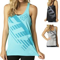 2015 Fox Racing Womens Summer Savant Racer Casual Sleeveless Tank Top