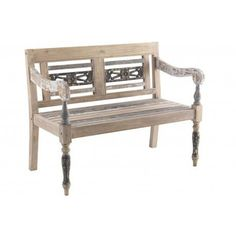 Piccadilly Shabby Chic Painted Ornate Bench
