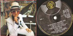 ELTON JOHN Greatest Hits 1974 Uk Issue Lp 33 rpm Album Red Translucent Vinyl Record Pop Rock 70s Daniel Rocket Man DJH20520 Free S&h
