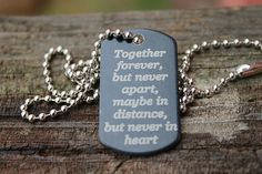 Together Forever Necklace - Six Shooter Gifts Engraved Dog Tags, Lucky In Love, Together Forever, Love Gifts, Custom Engraving, Country Girls, Country Life, Wedding Blog, Dog Tag Necklace