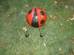 bowling balls to ladybugs, crafts, repurposing upcycling, bowling balls to ladybugs