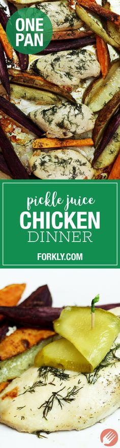 Pickle Juice Sheet Pan Chicken Dinner - http://www.forkly.com/recipes/pickle-juice-sheet-pan-chicken-dinner/