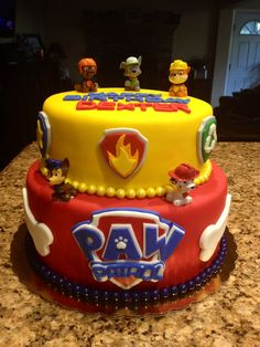 Paw patrol cake 5th Birthday Party Ideas, Birthday Fun, Birthday Celebration, Paw Patrol Birthday Cake, Paw Patrol Party, Torta Paw Patrol, Beautiful Birthday Cakes, Gateaux Cake, Oreo Pops