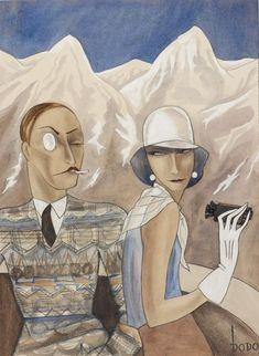 The Man With The Glacier Eye - 1928 - by Dodo aka Dorte Clara Wolff (1907-1998) - Jewish Museum of London, UK