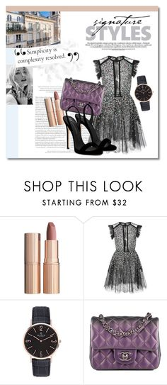 """""""Signature Style"""" by twinklepink ❤ liked on Polyvore featuring Charlotte Tilbury, Elie Saab, Chanel and Giuseppe Zanotti"""