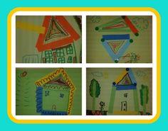 Creacions a partir de tires de paper i formes geomètriques.