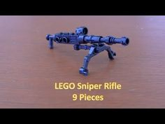 How To Build A LEGO Minifigure Sniper Rifle 9 Pieces
