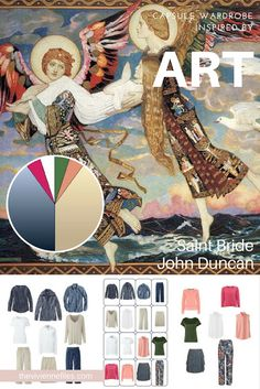 How to Wear Denim and Khaki with a Variety of Accent Colors: Start with Art - Saint Bride by John Duncan