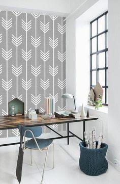 papier peint géométrique pour le bureau domicile