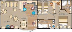New Jersey 40 x 16 2bed Open-plan sleeps4 floor plan