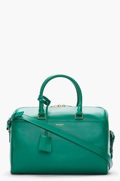 A Saint Laurent Emerald Bag