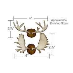 Sizzix - Tim Holtz - Alterations Collection - Bigz Die - Die Cutting Template - Trophy Antlers