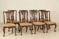 Chippendale: Gruppo di otto Sedie