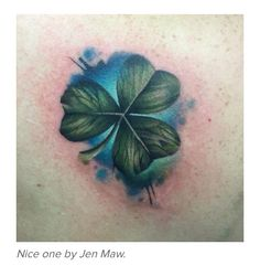Awesome shamrock tattoo! Thinking about getting this on my foot or ankle to celebrate my Irish heritage #SullivanForever