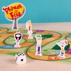 Printable Phineas and Ferb's Backyard Board Game - add some curriculum questions on cards and you're set!
