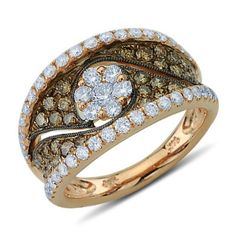 Brown Diamond Fashion Rings White and Brown Fancy Colored