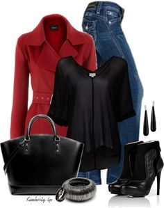 red and black..