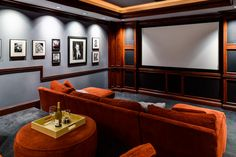 Home Theater. I like the size of this (not too ridiculous) but the colors need to change Best Home Theater, Home Theater Rooms, Cinema Room, Living Room Theaters, Media Room Design, Asian Home Decor, Lounge, Entertainment Room, Architecture