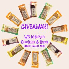 Giveaway ~ WB Kitchen Natural Cookies & Bars - Honey Ghee and MeHoney Ghee and Me