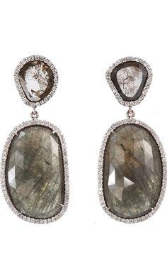 Monique Péan Cognac Sapphire & Diamond Slice Earrings