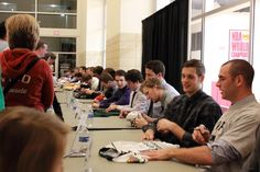 Autograph session with the team, 12/09/12