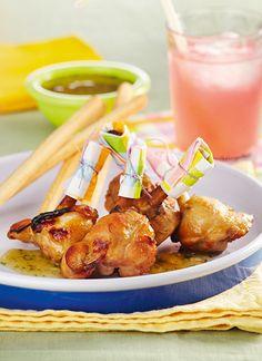 Colombinas de pollo con mostaza y miel