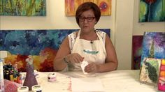 Dry Resist with Gelatos: Donna Downey Series  glue acts as mask and when dry can be peeled away