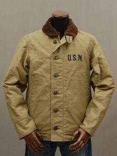 Japanese repro WWII N-1 deck jacket (The Real Makkoizu)