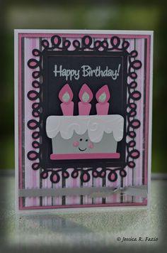 Cricut simply charmed cake card