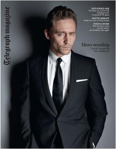 Telegraph Magazine: Our cover star tomorrow is the actor Tom Hiddleston.
