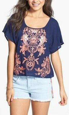 Beautiful embroidered tee!