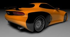 "2008 Chrysler Hemi Cuda concept in ""Go Mango"" orange  (Work in progress)     nice Baracuda photo found on the web"