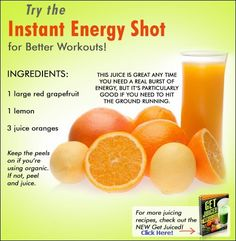 Low on energy? Then try this instant energy shot for better workouts!      If you want 100 more other juicing recipes just like this one,...