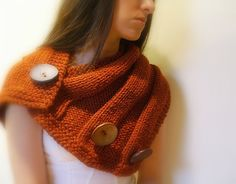 Can I just say how much I love the chunky impact of this mega shrug/cowl? $75 form Etsy Seller JustColor