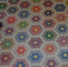 grandmother's flower garden quilt - Google Search