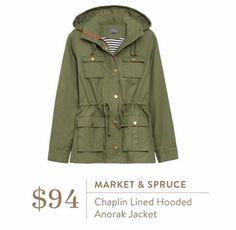 Market & Spruce Chaplin Lined Hooded Anorak Jacket - a little pricey but it seems sooooo versatile!