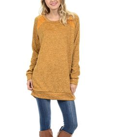 Look at this #zulilyfind! Mustard Top by Acting Pro #zulilyfinds
