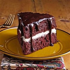 Edna's Ho Ho Cake Recipe -This treat serves up appealing flavor in big fluffy wedges of chocolate and cream. It's like a giant Ho Ho snack cake. —Edna Miller, Mount Hope, Ohio